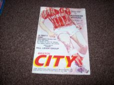 Bristol City v Tranmere Rovers, 1989/90